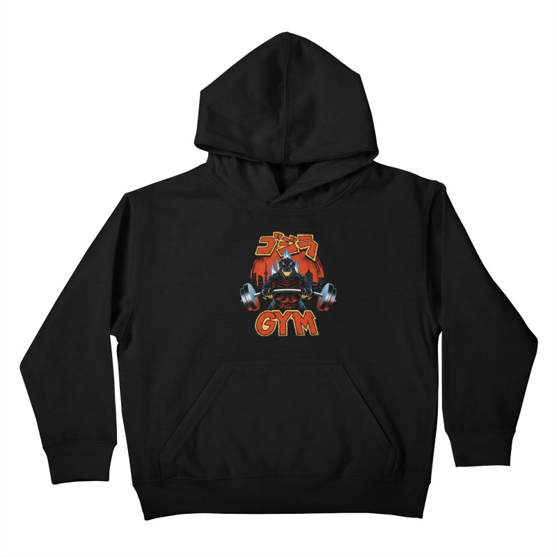Zilla Gym Kids Pullover Hoody by vincenttrinidad's Artist Shop