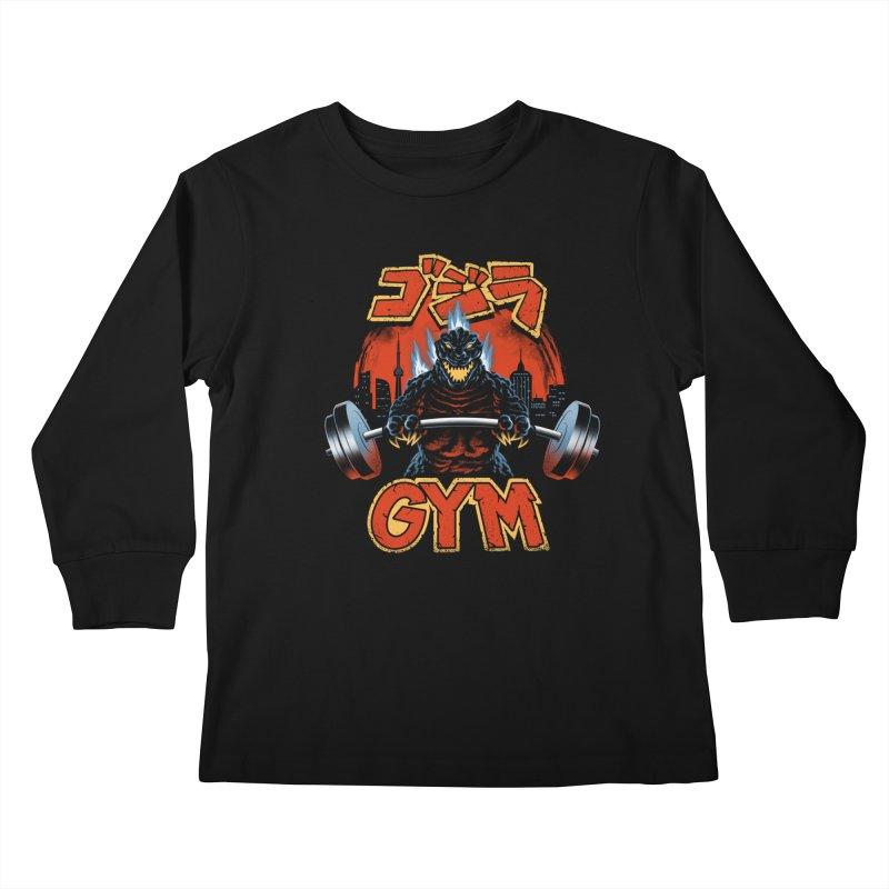 Zilla Gym Kids Longsleeve T-Shirt by vincenttrinidad's Artist Shop