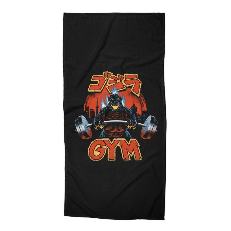 Zilla Gym Accessories Beach Towel by vincenttrinidad's Artist Shop