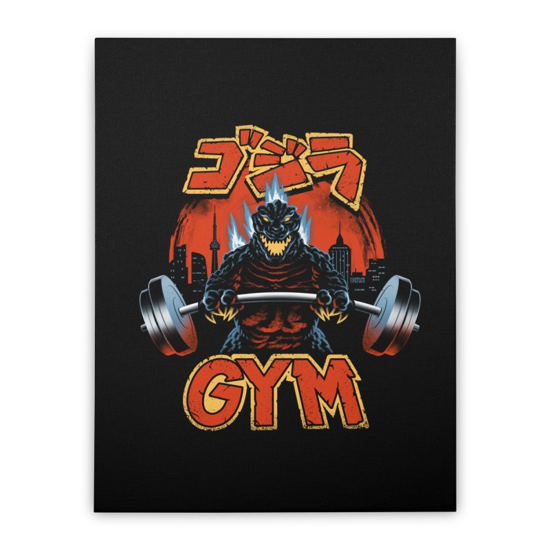 Zilla Gym Home Stretched Canvas by vincenttrinidad's Artist Shop