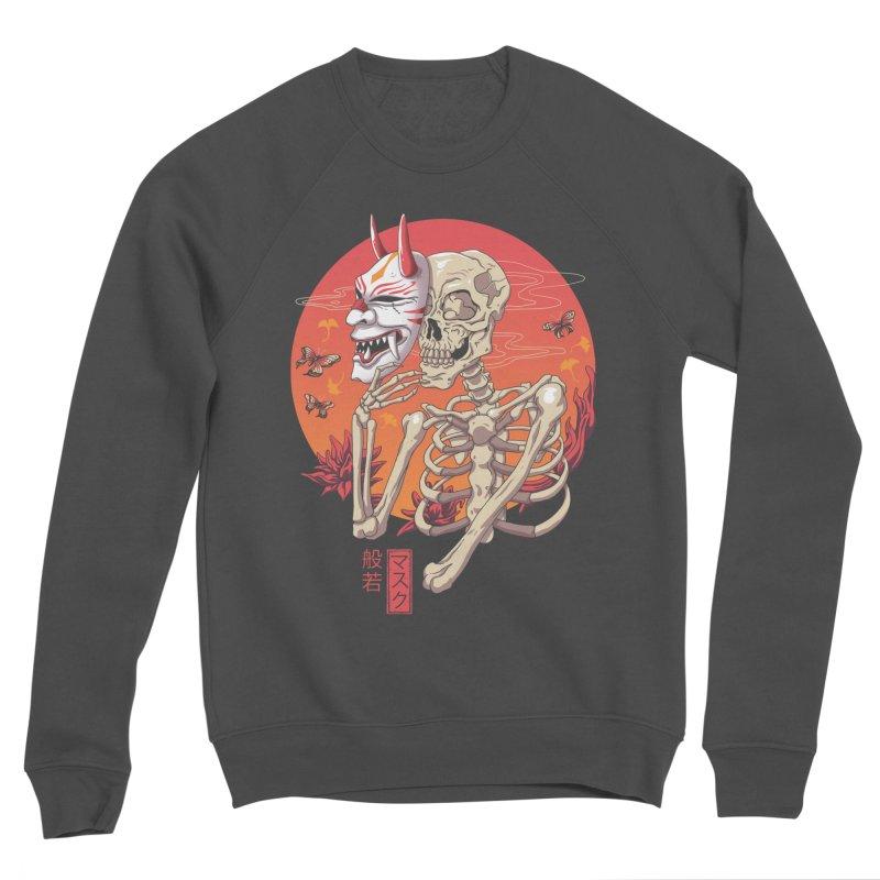 Hannya Yokai Mask Men's Sponge Fleece Sweatshirt by vincenttrinidad's Artist Shop