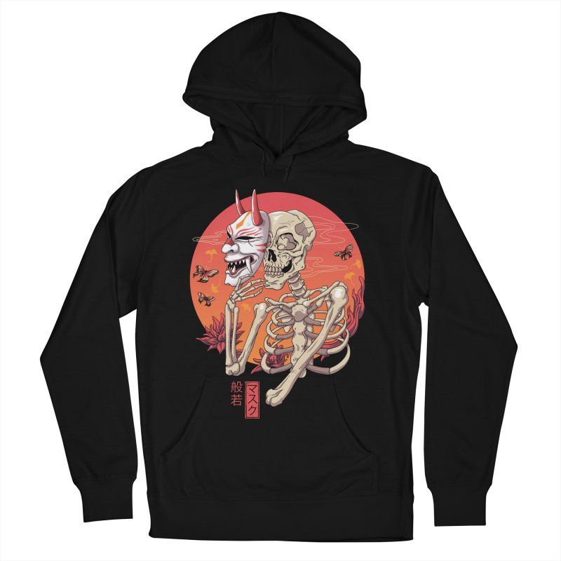 Hannya Yokai Mask Women's French Terry Pullover Hoody by vincenttrinidad's Artist Shop
