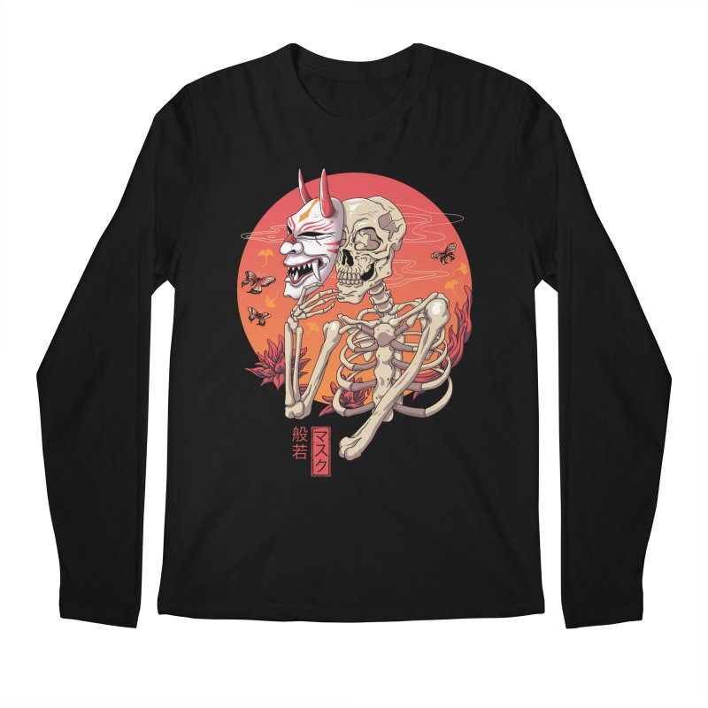 Hannya Yokai Mask Men's Regular Longsleeve T-Shirt by vincenttrinidad's Artist Shop