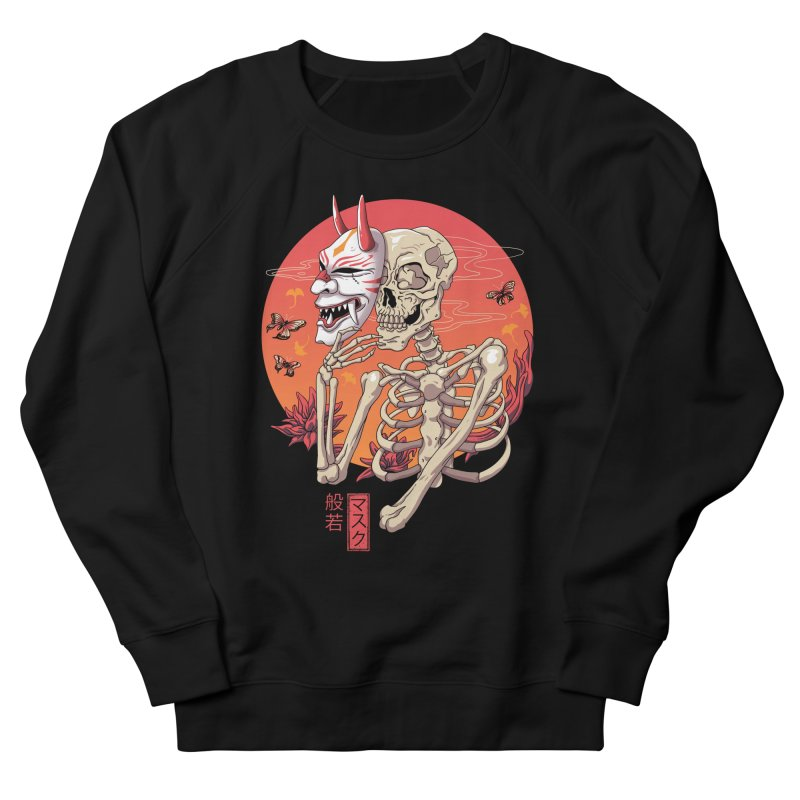 Hannya Yokai Mask Men's French Terry Sweatshirt by vincenttrinidad's Artist Shop