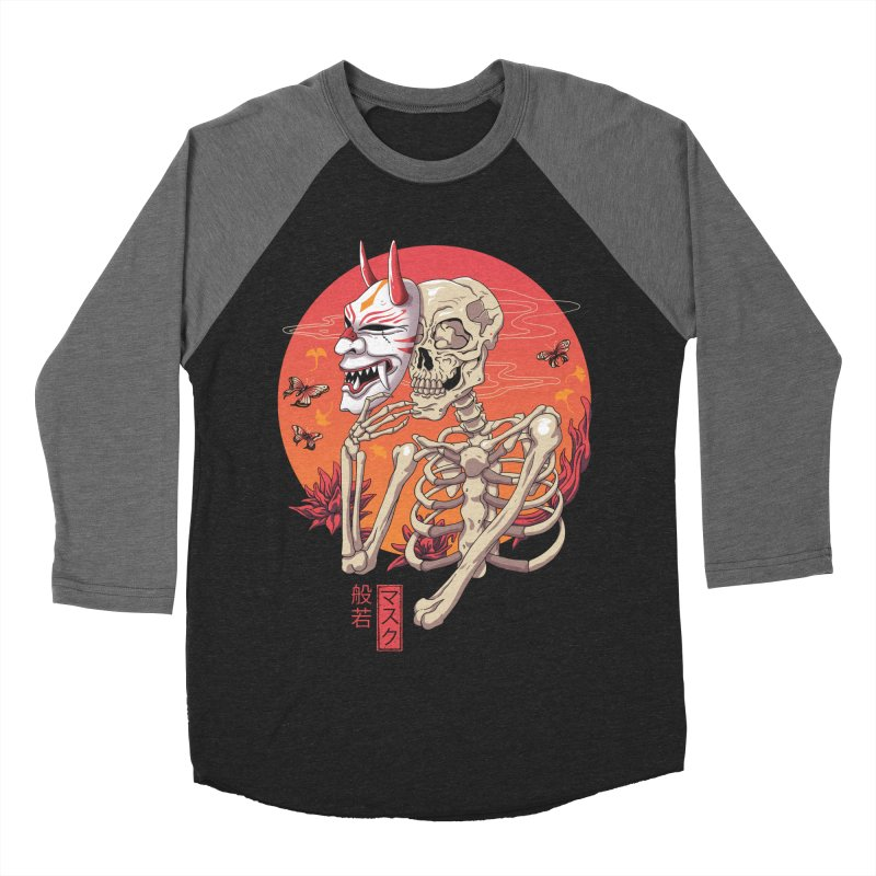 Hannya Yokai Mask Men's Baseball Triblend Longsleeve T-Shirt by vincenttrinidad's Artist Shop