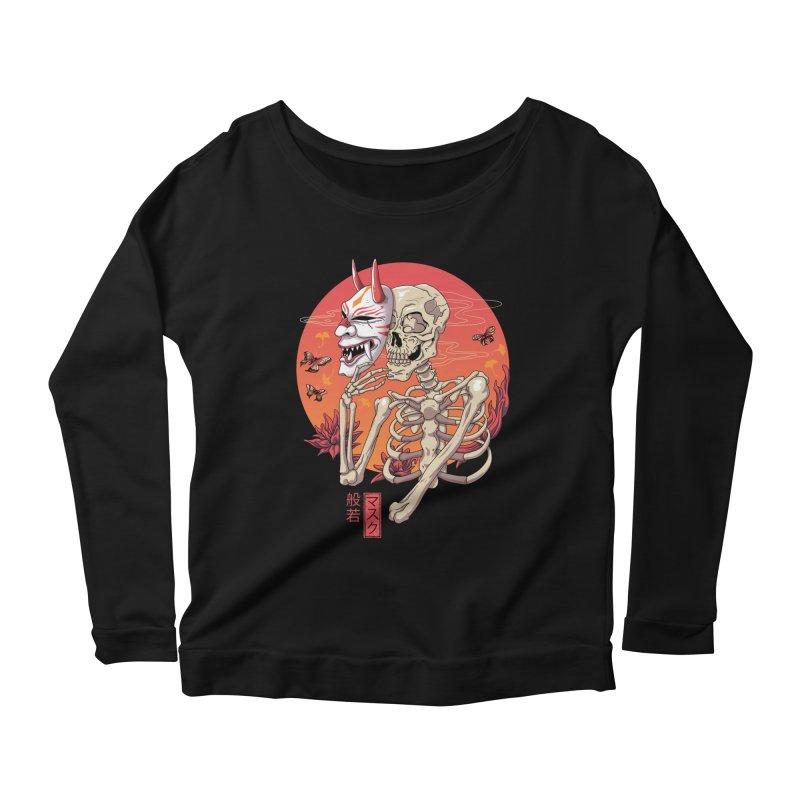 Hannya Yokai Mask Women's Scoop Neck Longsleeve T-Shirt by vincenttrinidad's Artist Shop