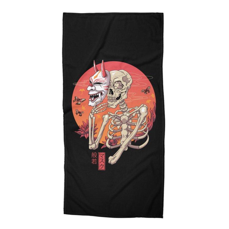 Hannya Yokai Mask Accessories Beach Towel by vincenttrinidad's Artist Shop