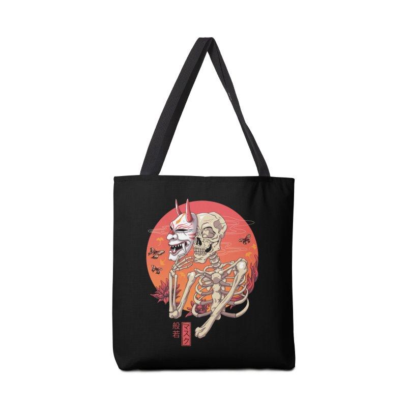 Hannya Yokai Mask Accessories Bag by vincenttrinidad's Artist Shop