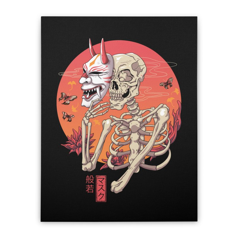 Hannya Yokai Mask Home Stretched Canvas by vincenttrinidad's Artist Shop
