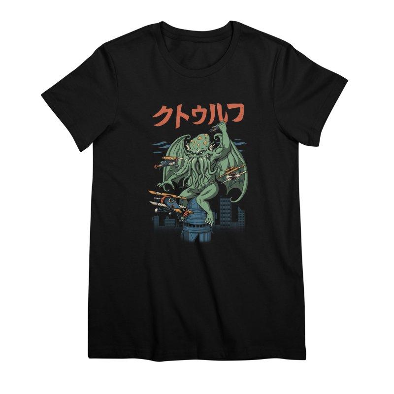 Kongthulhu Women's Premium T-Shirt by vincenttrinidad's Artist Shop