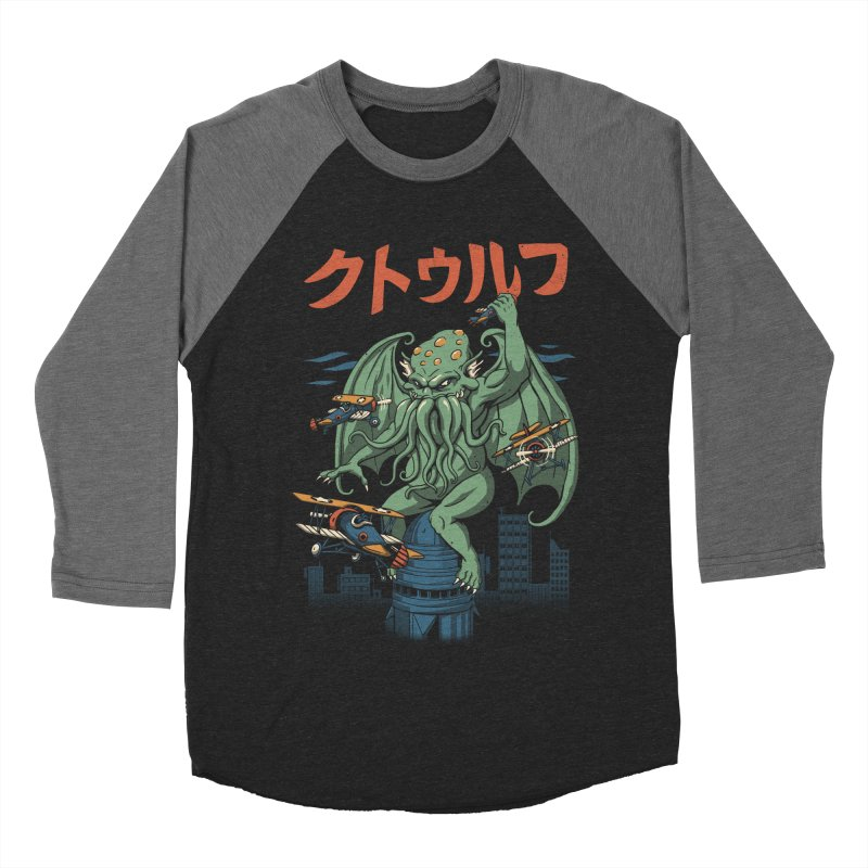Kongthulhu Men's Baseball Triblend Longsleeve T-Shirt by vincenttrinidad's Artist Shop