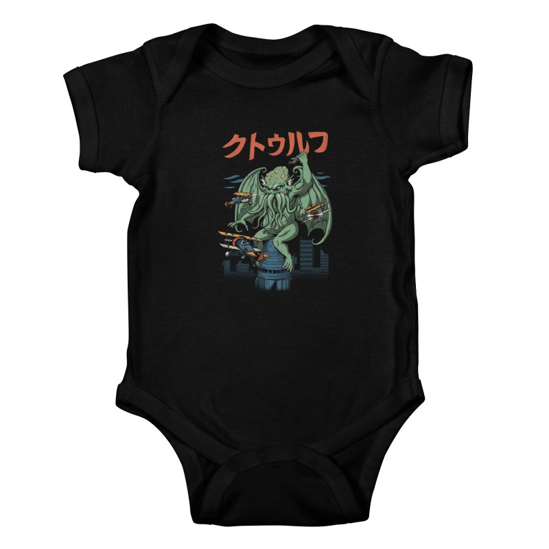 Kongthulhu Kids Baby Bodysuit by vincenttrinidad's Artist Shop