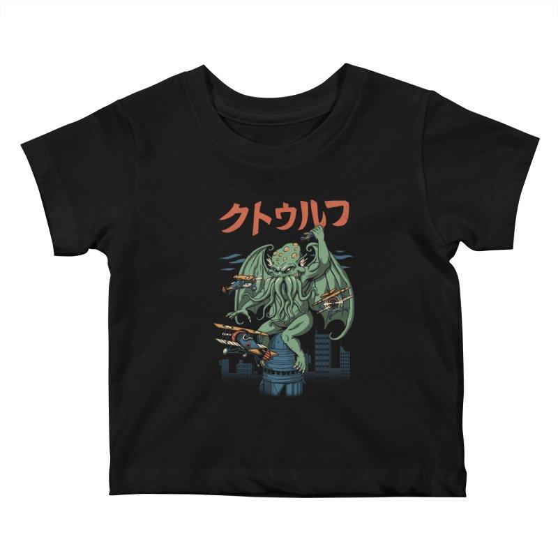 Kongthulhu Kids Baby T-Shirt by vincenttrinidad's Artist Shop