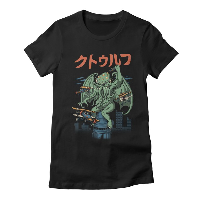 Kongthulhu Women's Fitted T-Shirt by vincenttrinidad's Artist Shop