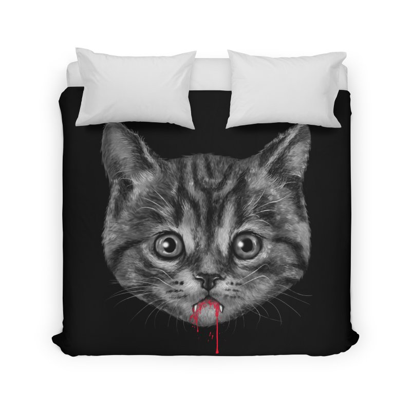Black Pussy Cat Home Duvet by vincenttrinidad's Artist Shop