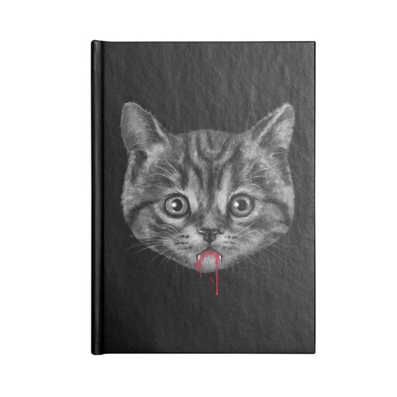 Black Pussy Cat Accessories Notebook by vincenttrinidad's Artist Shop