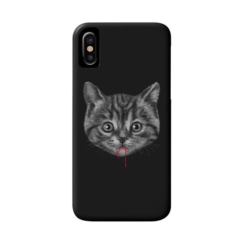 Black Pussy Cat Accessories Phone Case by vincenttrinidad's Artist Shop