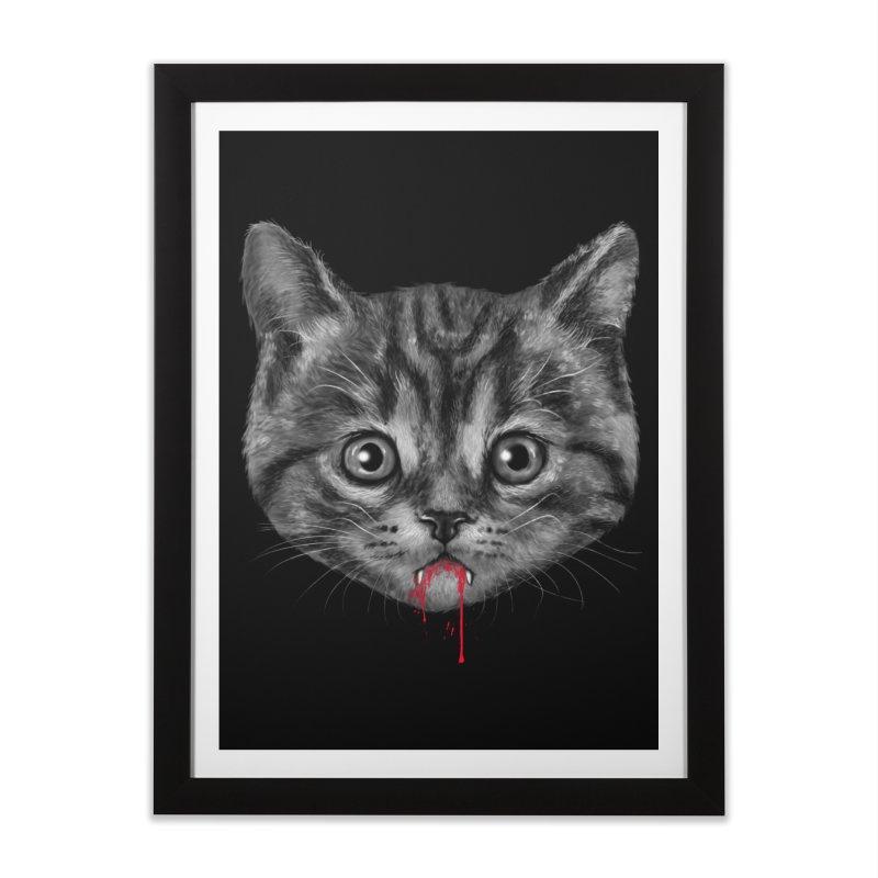 Black Pussy Cat Home Framed Fine Art Print by vincenttrinidad's Artist Shop