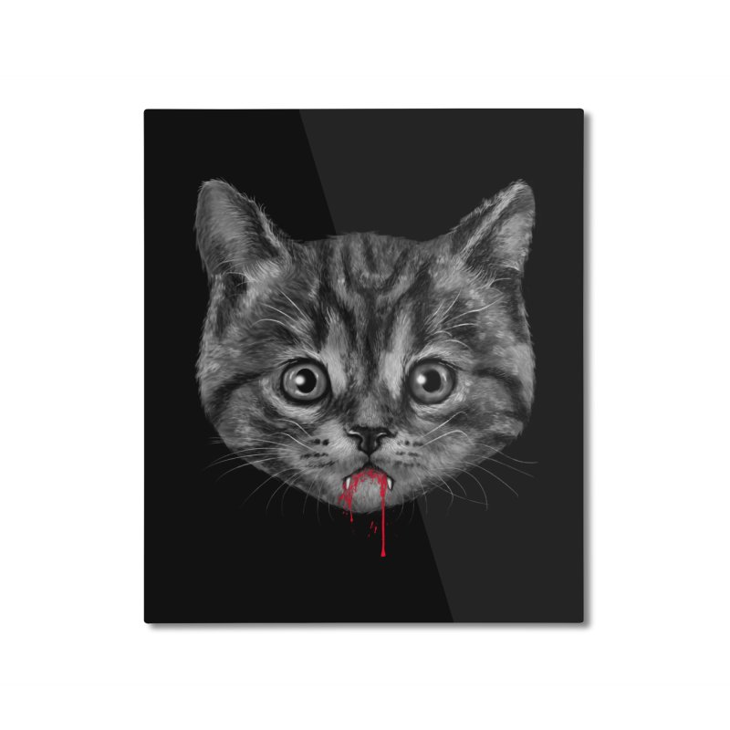 Black Pussy Cat Home Mounted Aluminum Print by vincenttrinidad's Artist Shop