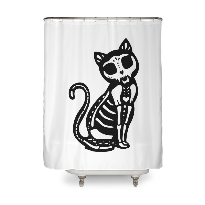 Macabre Cat Home Shower Curtain by vincenttrinidad's Artist Shop