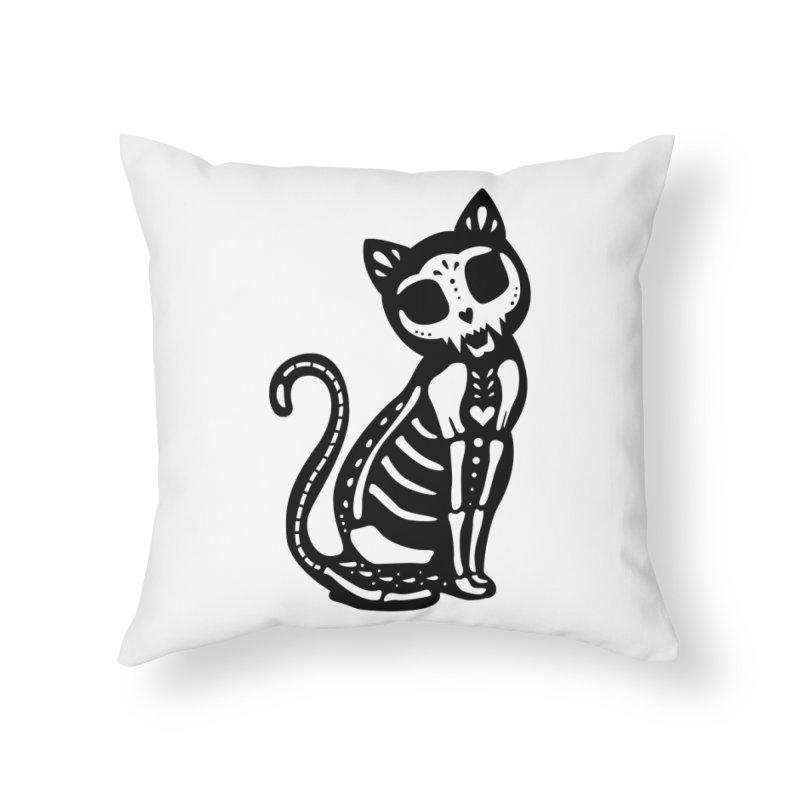 Macabre Cat Home Throw Pillow by vincenttrinidad's Artist Shop