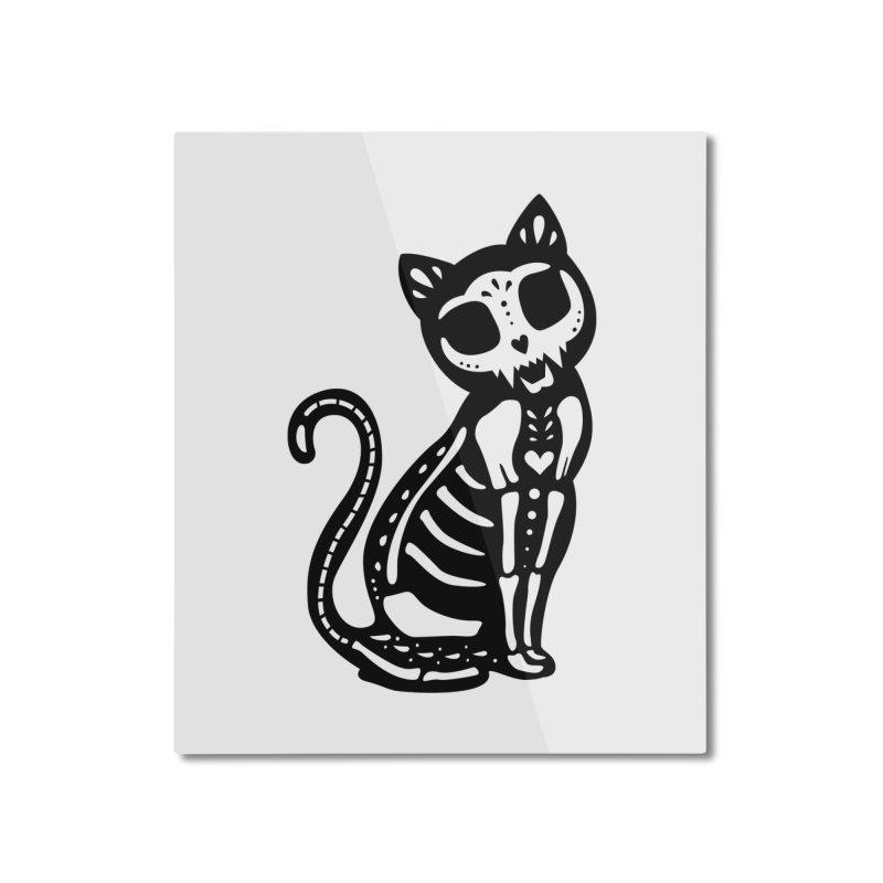 Macabre Cat Home Mounted Aluminum Print by vincenttrinidad's Artist Shop