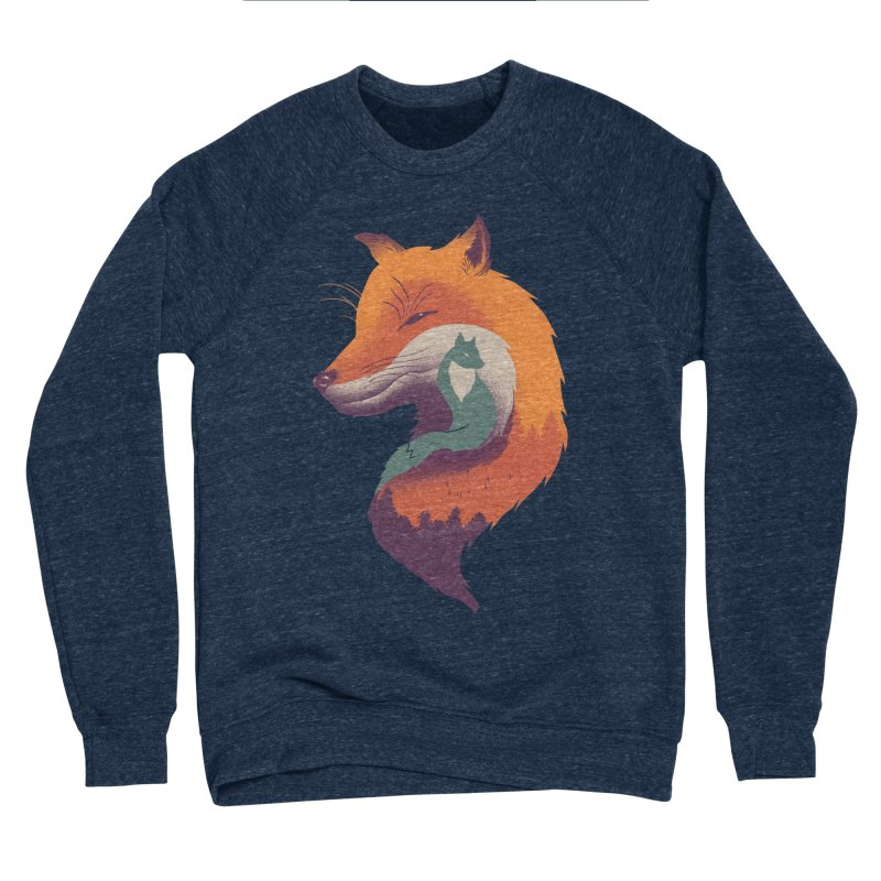 Foxy Breeze Men's Sponge Fleece Sweatshirt by vincenttrinidad's Artist Shop