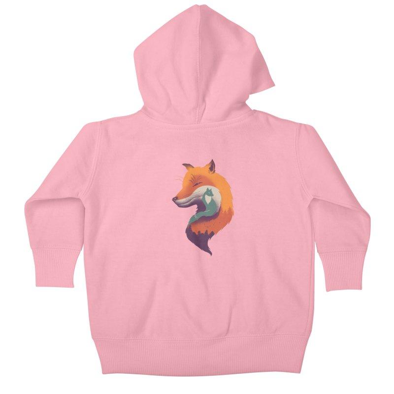 Foxy Breeze Kids Baby Zip-Up Hoody by vincenttrinidad's Artist Shop