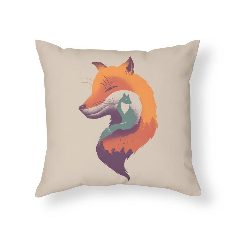 Foxy Breeze Home Throw Pillow by vincenttrinidad's Artist Shop