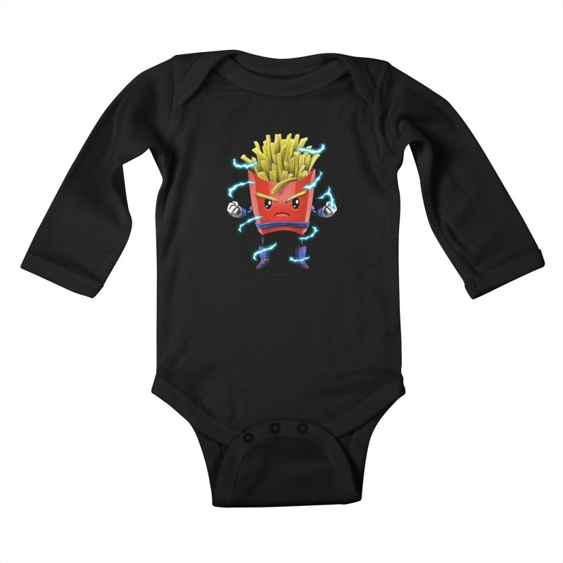 Saiyan Fries Kids Baby Longsleeve Bodysuit by vincenttrinidad's Artist Shop