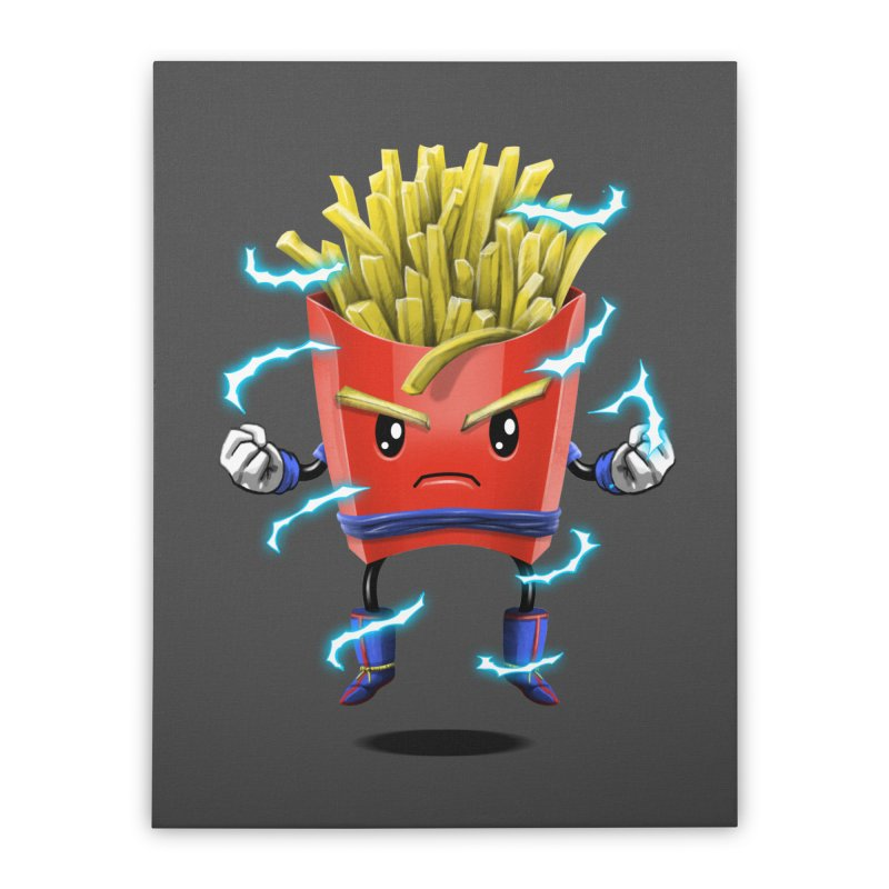 Saiyan Fries Home Stretched Canvas by vincenttrinidad's Artist Shop