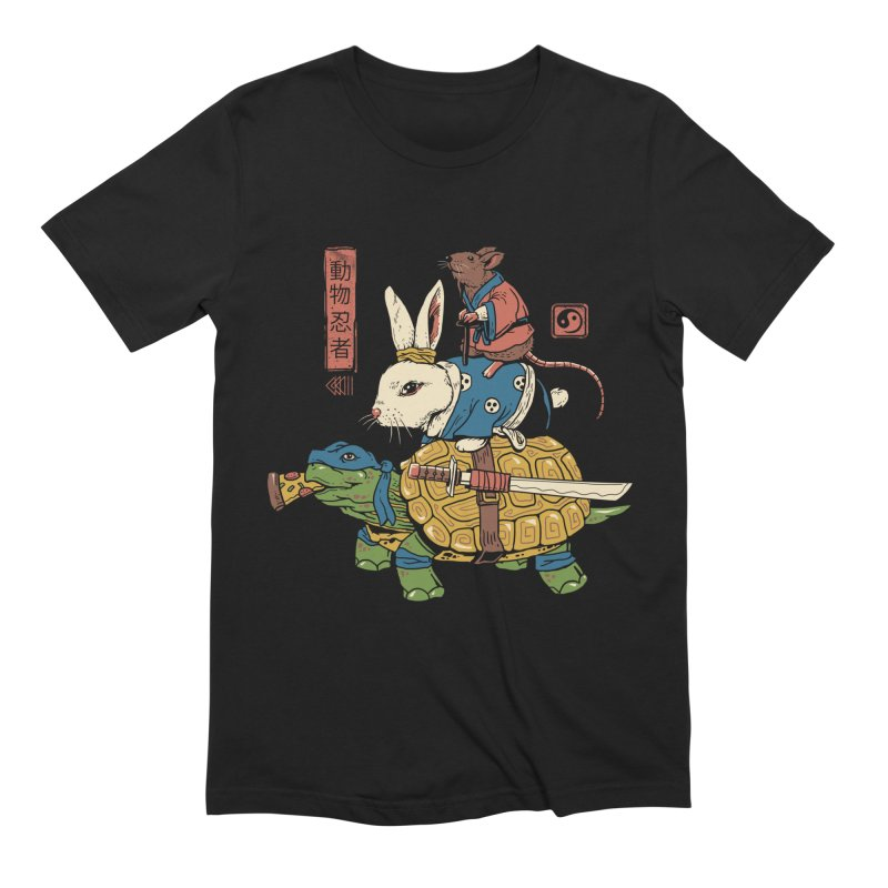 Kame, Usagi and Ratto Ninjas Men's French Terry Zip-Up Hoody by vincenttrinidad's Artist Shop