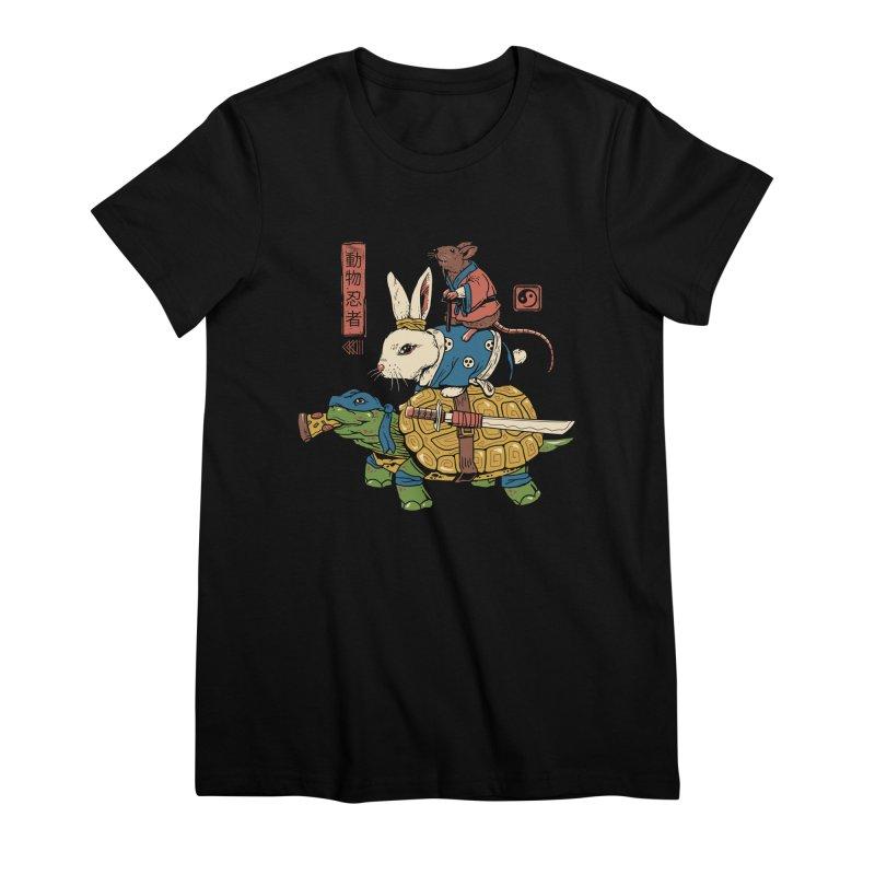 Kame, Usagi and Ratto Ninjas Women's Premium T-Shirt by vincenttrinidad's Artist Shop