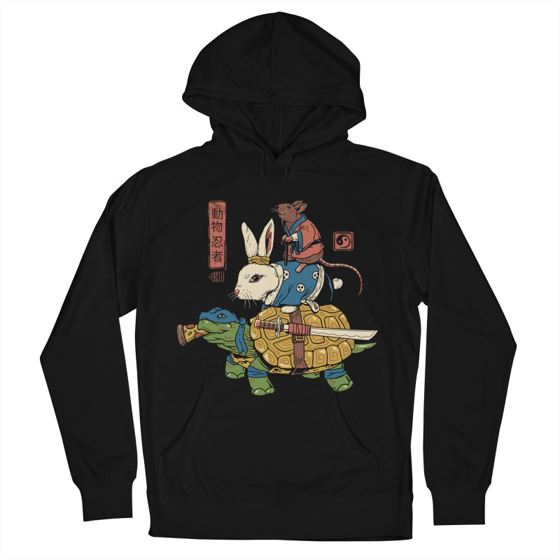 Kame, Usagi and Ratto Ninjas Women's French Terry Pullover Hoody by vincenttrinidad's Artist Shop