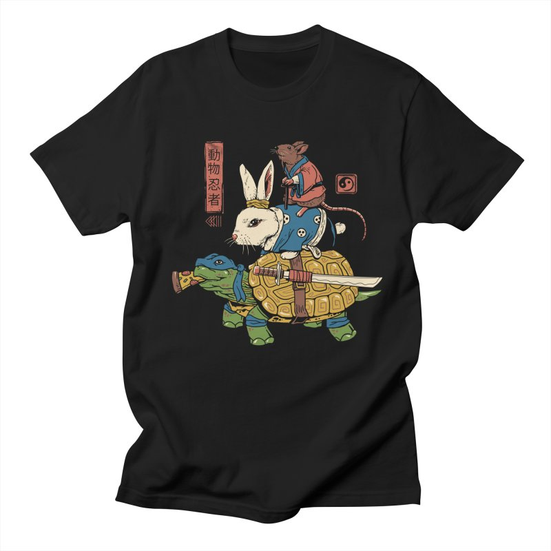 Kame, Usagi and Ratto Ninjas Women's Regular Unisex T-Shirt by vincenttrinidad's Artist Shop