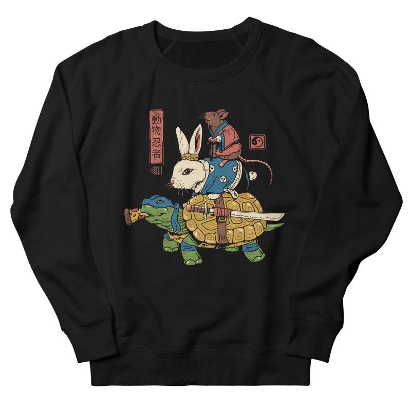 Kame, Usagi and Ratto Ninjas Women's French Terry Sweatshirt by vincenttrinidad's Artist Shop
