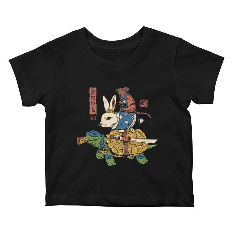 Kame, Usagi and Ratto Ninjas Kids Baby T-Shirt by vincenttrinidad's Artist Shop
