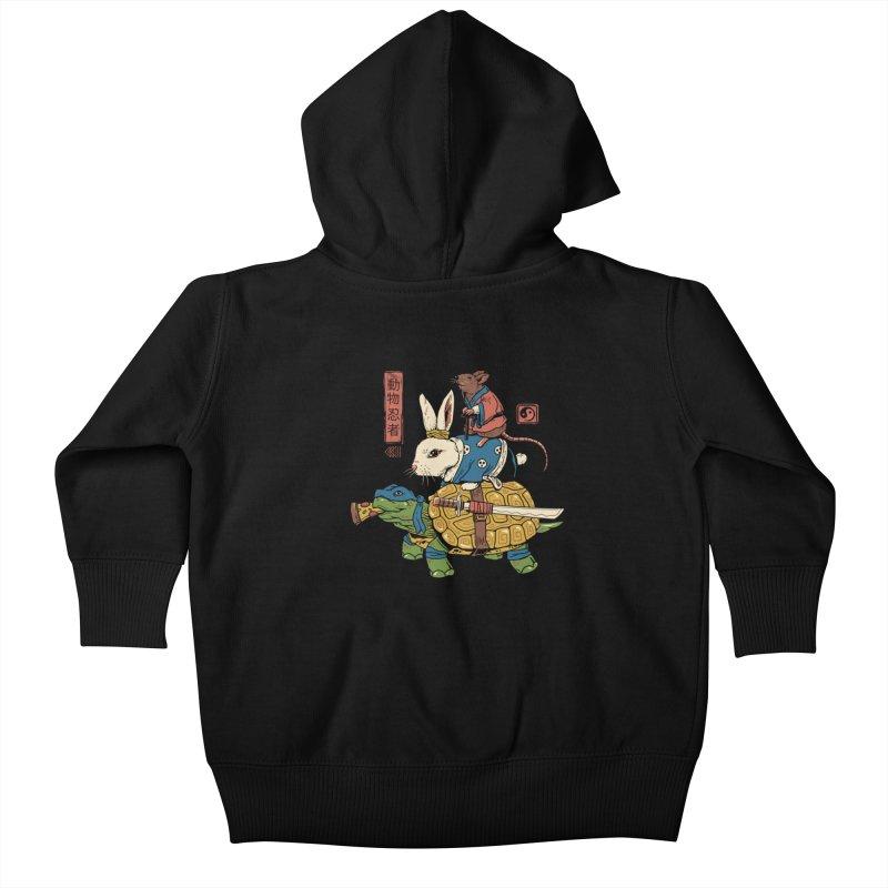 Kame, Usagi and Ratto Ninjas Kids Baby Zip-Up Hoody by vincenttrinidad's Artist Shop