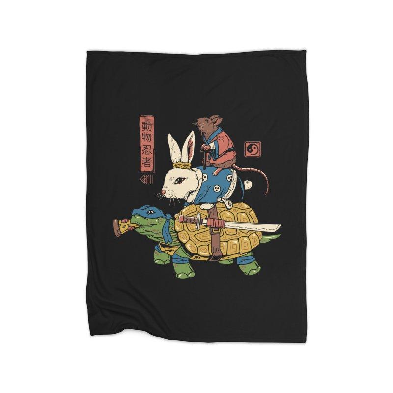 Kame, Usagi and Ratto Ninjas Home Blanket by vincenttrinidad's Artist Shop