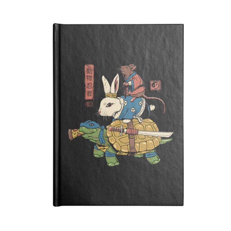 Kame, Usagi and Ratto Ninjas Accessories Notebook by vincenttrinidad's Artist Shop
