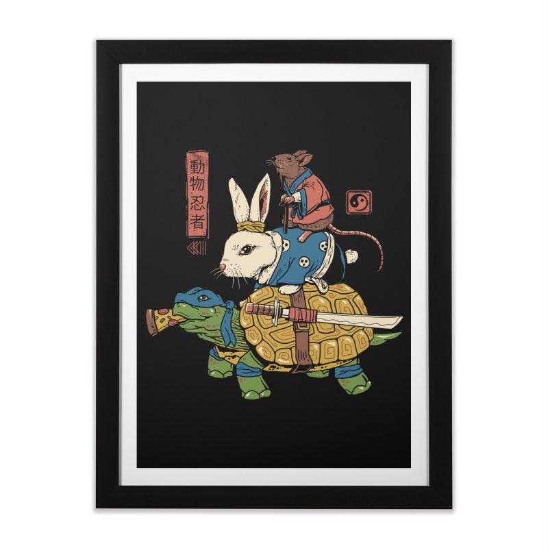 Kame, Usagi and Ratto Ninjas Home Framed Fine Art Print by vincenttrinidad's Artist Shop
