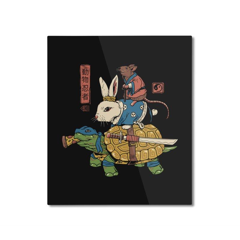 Kame, Usagi and Ratto Ninjas Home Mounted Aluminum Print by vincenttrinidad's Artist Shop