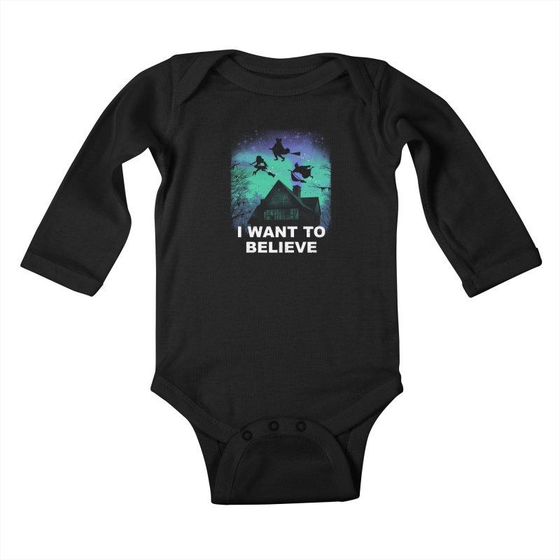 Believe in Magic Kids Baby Longsleeve Bodysuit by vincenttrinidad's Artist Shop