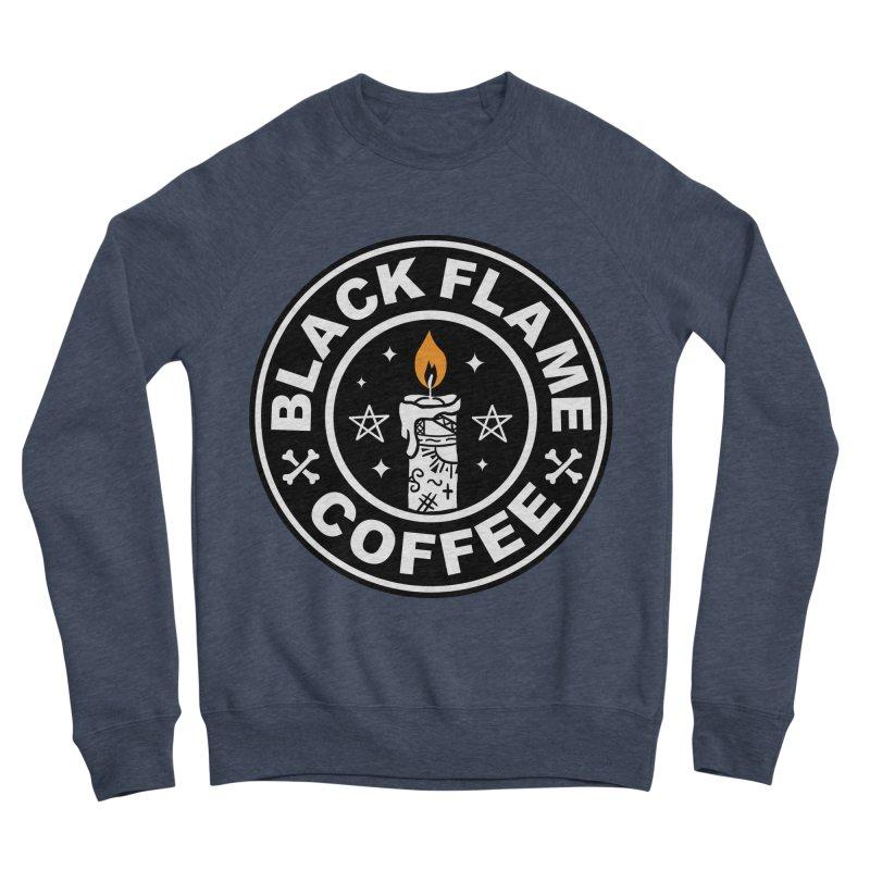 Black Flame Coffee Men's Sponge Fleece Sweatshirt by vincenttrinidad's Artist Shop
