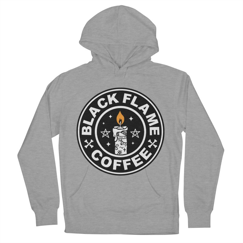 Black Flame Coffee Women's French Terry Pullover Hoody by vincenttrinidad's Artist Shop
