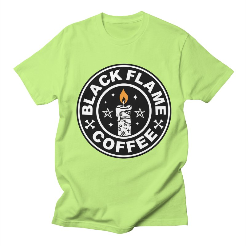 Black Flame Coffee Women's Regular Unisex T-Shirt by vincenttrinidad's Artist Shop