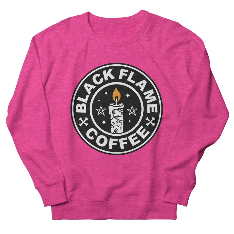 Black Flame Coffee Women's French Terry Sweatshirt by vincenttrinidad's Artist Shop