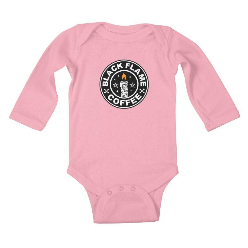 Black Flame Coffee Kids Baby Longsleeve Bodysuit by vincenttrinidad's Artist Shop