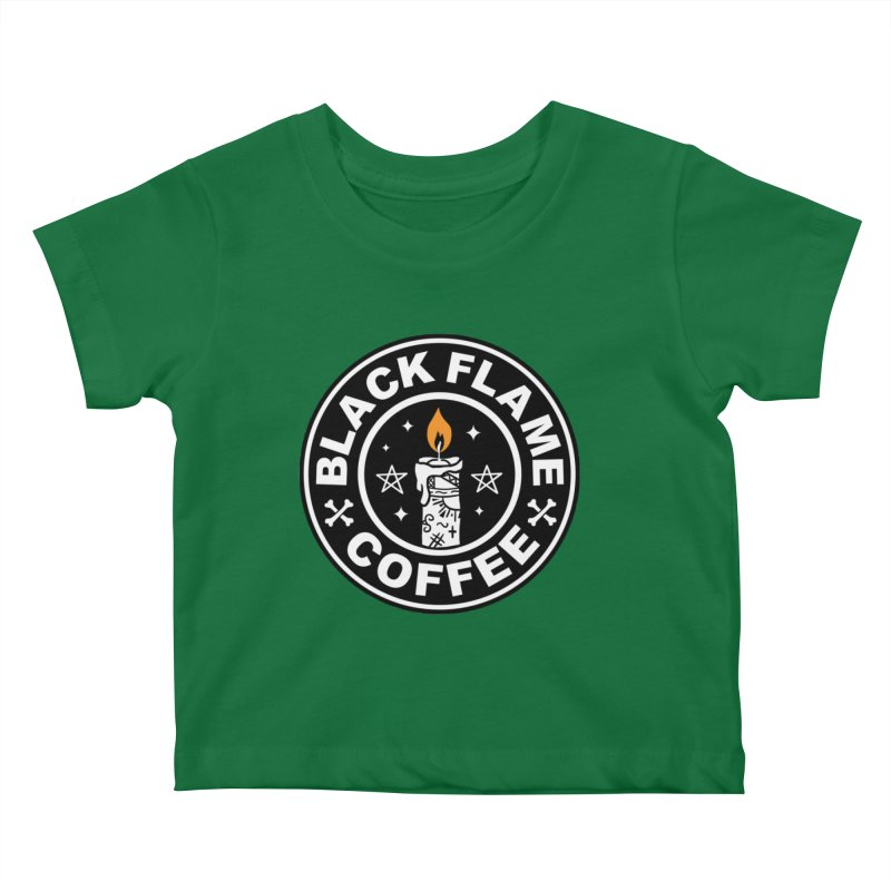 Black Flame Coffee Kids Baby T-Shirt by vincenttrinidad's Artist Shop