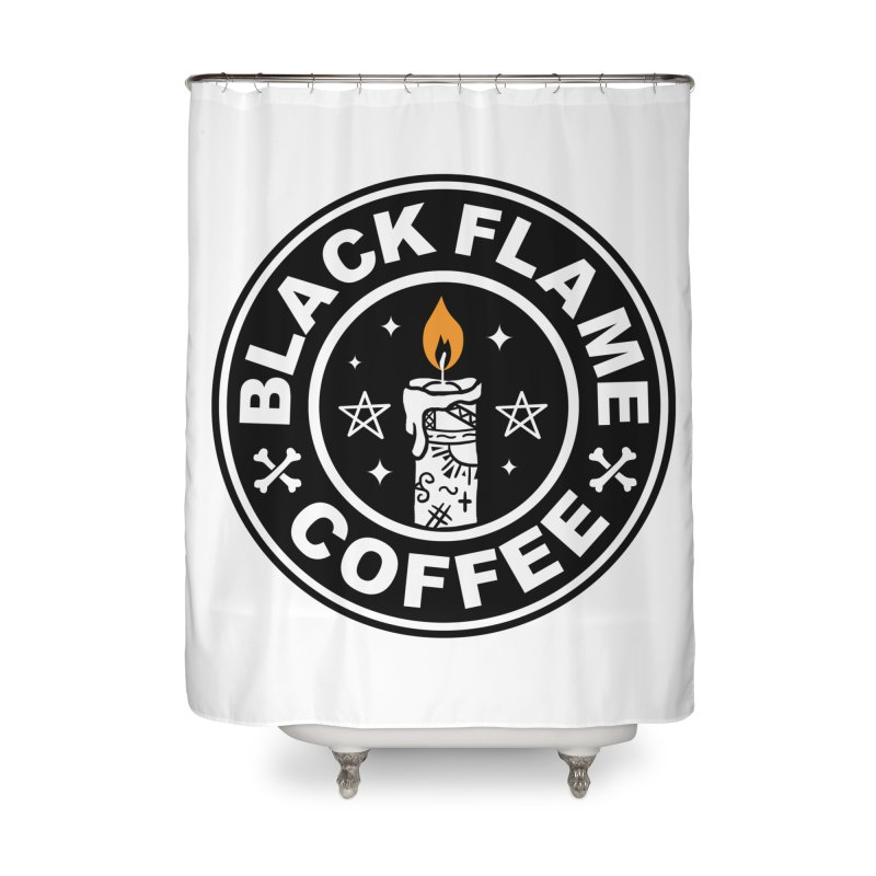 Black Flame Coffee Home Shower Curtain by vincenttrinidad's Artist Shop